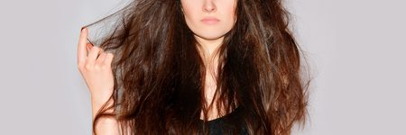 Woman with Dry and Damged Hair